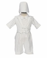 Boys Christening Outfit Satin Fancy Shorts Long