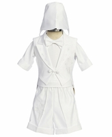 Sale Boys Christening Outfit Satin Fancy Shorts Set 6-12 months