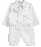 Boys Christening Outfit Formal Brocade Knickers 24 months