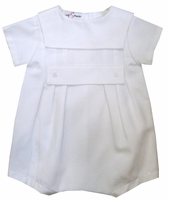 Boys Christening Outfits Cotton Pique Bubble Shortall Romper