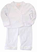 A Girls Christening Outfit Infant Girls Pant Set 3 months