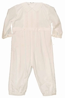 Boys Christening Outfit Simple Light Ivory Baptism Longall Set