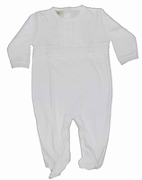 Unisex Christening Outfit Cotton Baby Footie and Hat