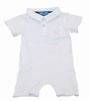Boys Christening Outfit Romper Shortalls 0/3m or 3/6m