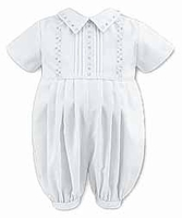 A Boys Christening Outfit Romper Cute Baptism Shortalls Set