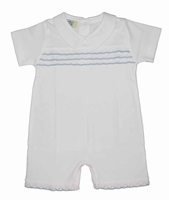 Boys Christening Outfit Baby Shortalls Romper Cotton 0-3 months