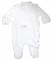Unisex Christening Outfit Baby Longall Velour Footie 3 months