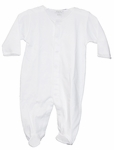 Unisex Christening Outfit Baby White Cotton Longall Footie Set