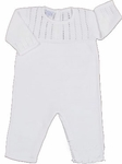 A Unisex Christening Outfit Fine Knit Longalls 100% Cotton and Hat