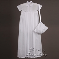 Boys Christening Gown Convertible Baby Fine Cotton Set 6-12 months
