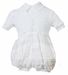 Boys Christening Outfits White Celebration Romper Baptism Set