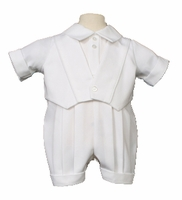 Christening Romper Gabardine Vest Laura Ashley