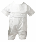 Boys Christening Outfits Romper Embroidered Cross Baptism Set