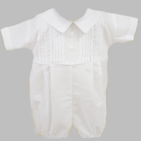 Boys Christening Outfits Baby Romper Infant Baptism Short Set