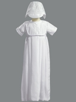 A Unisex Christening Shantung Gown Traditional