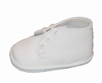 Boys Christening Shoes White Leather Boot Baby size 1