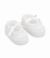 Girls Christening Shoe White Knit Bootie