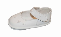 Girls Christening Shoe White Leather Baby size 1