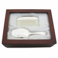 Christening Gifts Keepsake Silver Brush and Comb Set