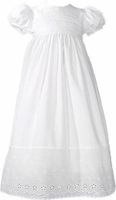 Girls Christening Gown Simple Eyelet