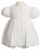 Christening Smocked Baby Girl Dress