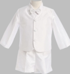 Boys Christening Suits Poly Silk Short Eton Suit 4T