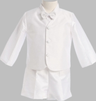 Boys Christening Suits Toddler Formal Poly Silk Short Eton Suit