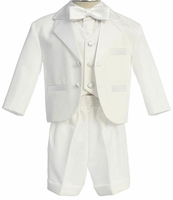 Boys Christening Suit White Tuxedo Shorts