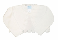 Girls Christening Sweater Ivory Bolero Cardigan