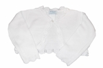 Girls Christening Sweater White Bolero Cardigan