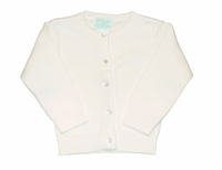 Unisex Christening Sweater Ivory Simple Cardigan