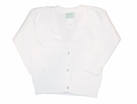 Unisex Christening Sweater White V-neck Cardigan