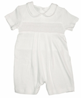 Boys Christening Outfits Toddler Smocked Baptism Shortalls 4T