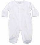 Unisex Christening Outfits Baby Cotton Lamby Footie Newborn