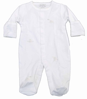 Unisex Christening Outfits Baby Cotton Lamby Footie