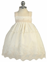 Christening Vintage Cream  Dress Set