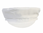 Boys Christening Hat White Captain Cap