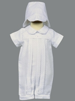 Boys Christening Outfits White Cotton Romper Set Sherwin