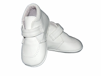 Boys Christening Shoes White Leather Baby Baptism Crib Shoe Bootie