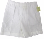 Christening White Linen Shorts 12 months