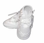 Boys Christening Shoes Baby White Satin Infant Baptism Newborn