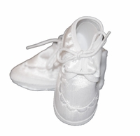 Boys Christening Shoes Baby White Satin Infant Baptism Crib Shoe