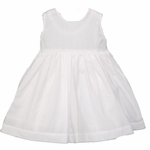 Girls Christening Dress Simple White Baptism Outfit