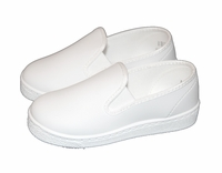 Boys Christening Shoes White Slip-On Boat Shoes