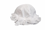 Girls Christening Hat White Baptism Sun Hat 3 months