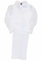 Boys Christening Outfit Toddler White Vest Set 12/18 months