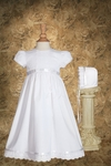 Girl's Eyelet Pintucks Simple Christening Gown