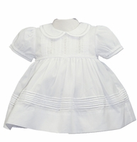 Girls Christening Dress Newborn Smocked French Lace