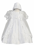 Girls Christening Dress Set Lace & Organza