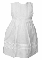 A Girls Christening Dress Sleeveless Smocked Classic